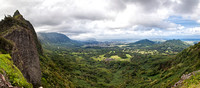 Nuuanu Pali Lookout Panorama by Christian Del Rosario