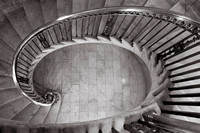 Spiral Staircase inside the US Supreme Court by Christian Del Ro