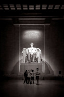 Inside the Lincoln Memorial by Christian Del Rosario