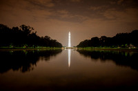 Washington Monument & Reflecting Pool at Night by Christian Del