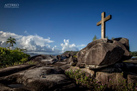 A cross in Seychelles by Christian Del Rosario