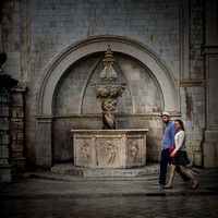 Lovers Walk in Dubrovnik by Christian Del Rosario