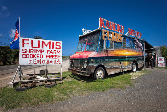 A Kahuku Shrimp Truck in Oahu by Christian Del Rosario