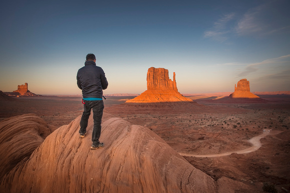 Xtian in Monument Valley by Christian Del Rosario