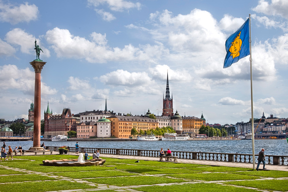 view from stockholm city hall - sweden