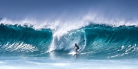 Surfing at Banzai Pipeline s1 by Christian Del Rosario